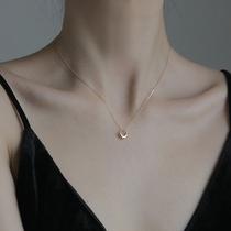 银925新款简约气质锁骨链颈链多圈镂空小蛮腰项链女MonacoAPM