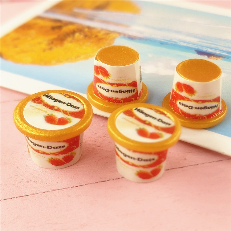 12 points Dollhouse Miniature hand-made model BJD props Japanese ice cream