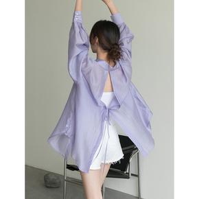 王妃家2020夏季新款垂感设计感小众衬衣长袖薄款衬衫天丝防晒衣女