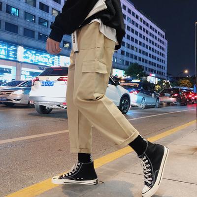 2018秋季新款 多口袋贴标情侣休闲裤工装裤子 A017 K38 P55