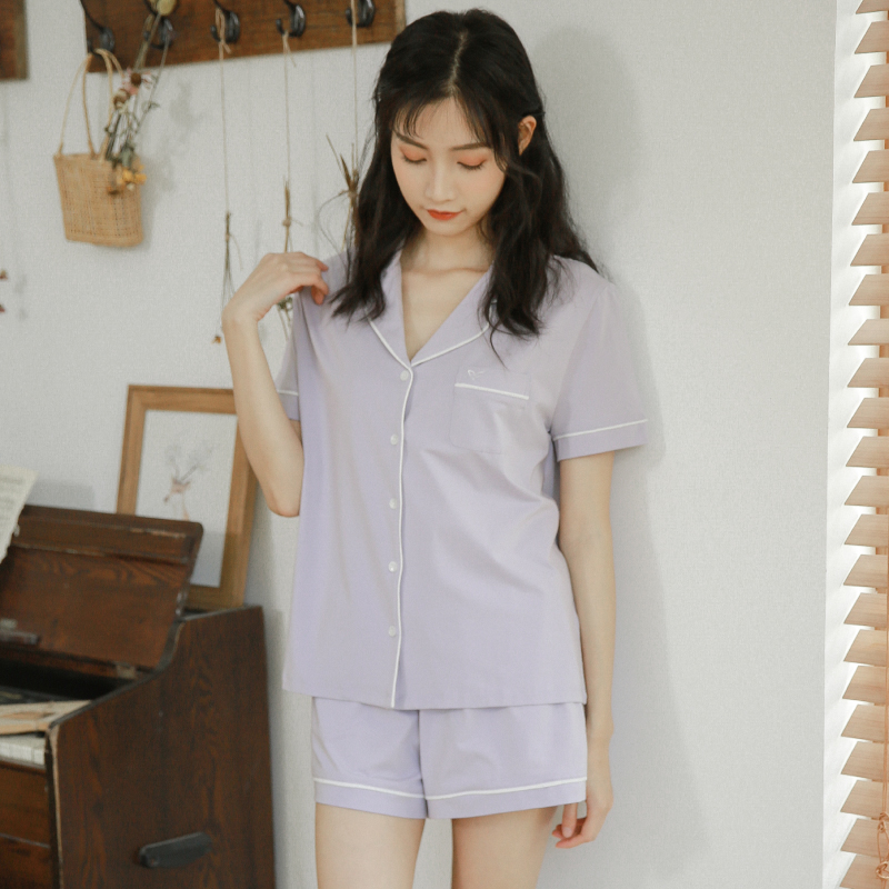 Peffino beihuanna comfortable modal cotton pajamas womens short sleeve comfortable thin summer new home clothes
