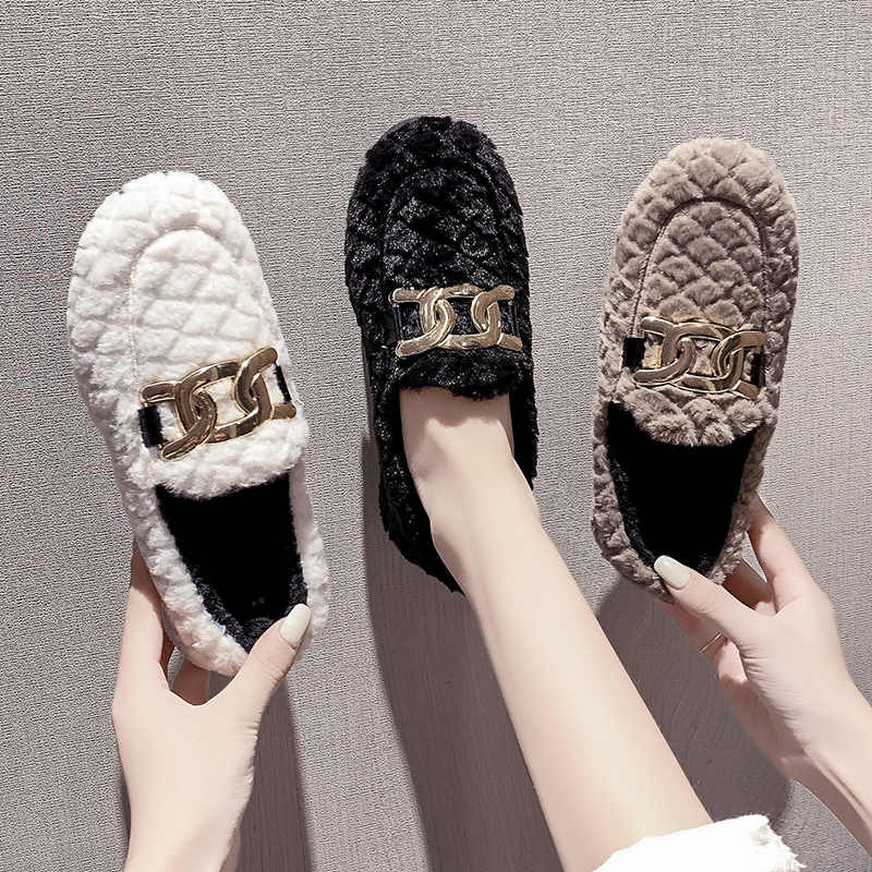 Flat bottomed cotton shoes womens new shopping mall in autumn and winter 2020