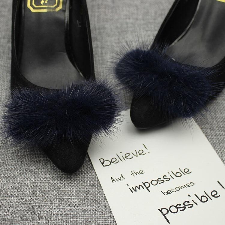 鞋子上的装饰品鞋配件毛毛百搭蝴蝶结鞋花鞋饰毛毛鞋扣款女鞋配饰