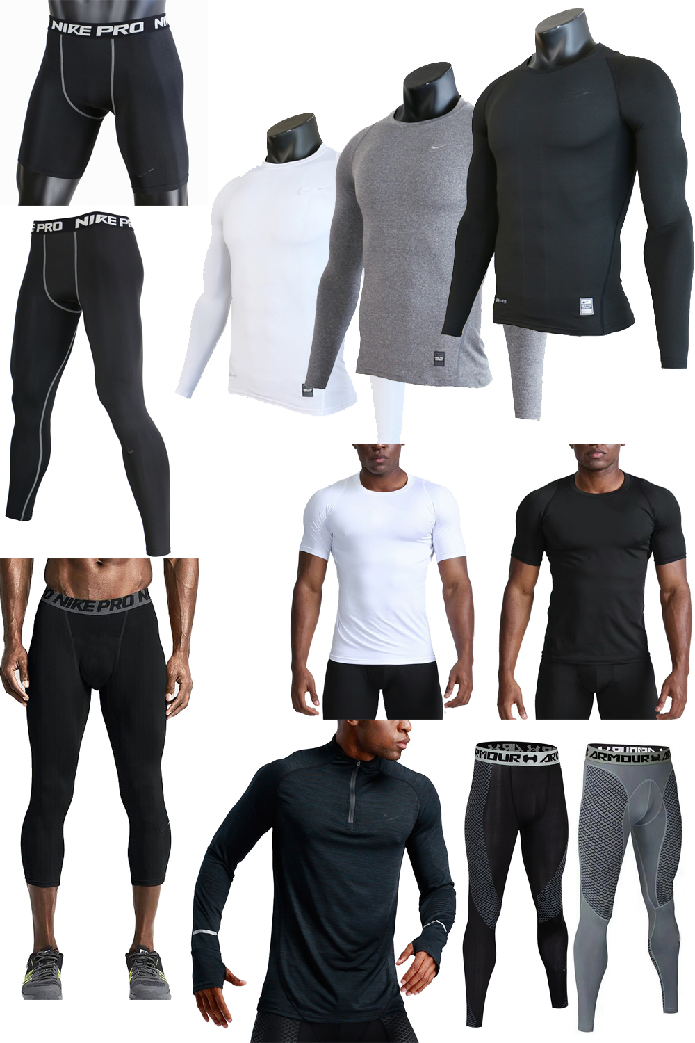Pro tights tights quick drying breathable football tackle pants basketball training compression Pants Capris