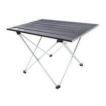 (proprietary) Shepherd flute Outdoor aluminum alloy foldable portable ultra-light wild dining table camping simple quad table