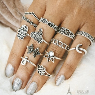 13pcs sets fashion gold rings women戒指мода кольцо
