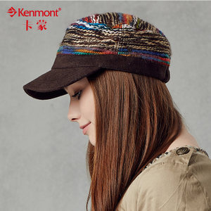 kenmont鸭舌帽韩版潮帽子女秋冬韩国休闲时尚平顶帽军帽棒球帽