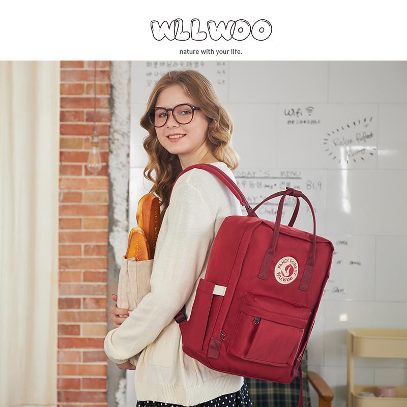 wllwoo双肩包女韩版书包原宿ulzzang高中生大学生简约ins风背包169.00元包邮