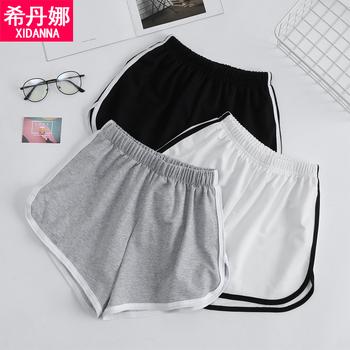 运动短裤夏2019高腰瑜伽阔腿打底裤