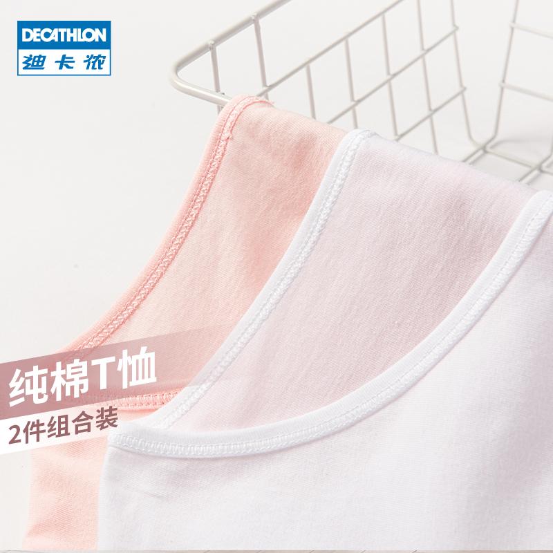 迪卡侬纯棉t恤夏新款白色打底衫评价好不好