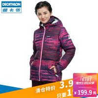Десятиборье зимний на открытом воздухе пуховик женщина распродажа утепленный спортивный удерживающий тепло водонепроницаемый ветер короткий WEDZE1