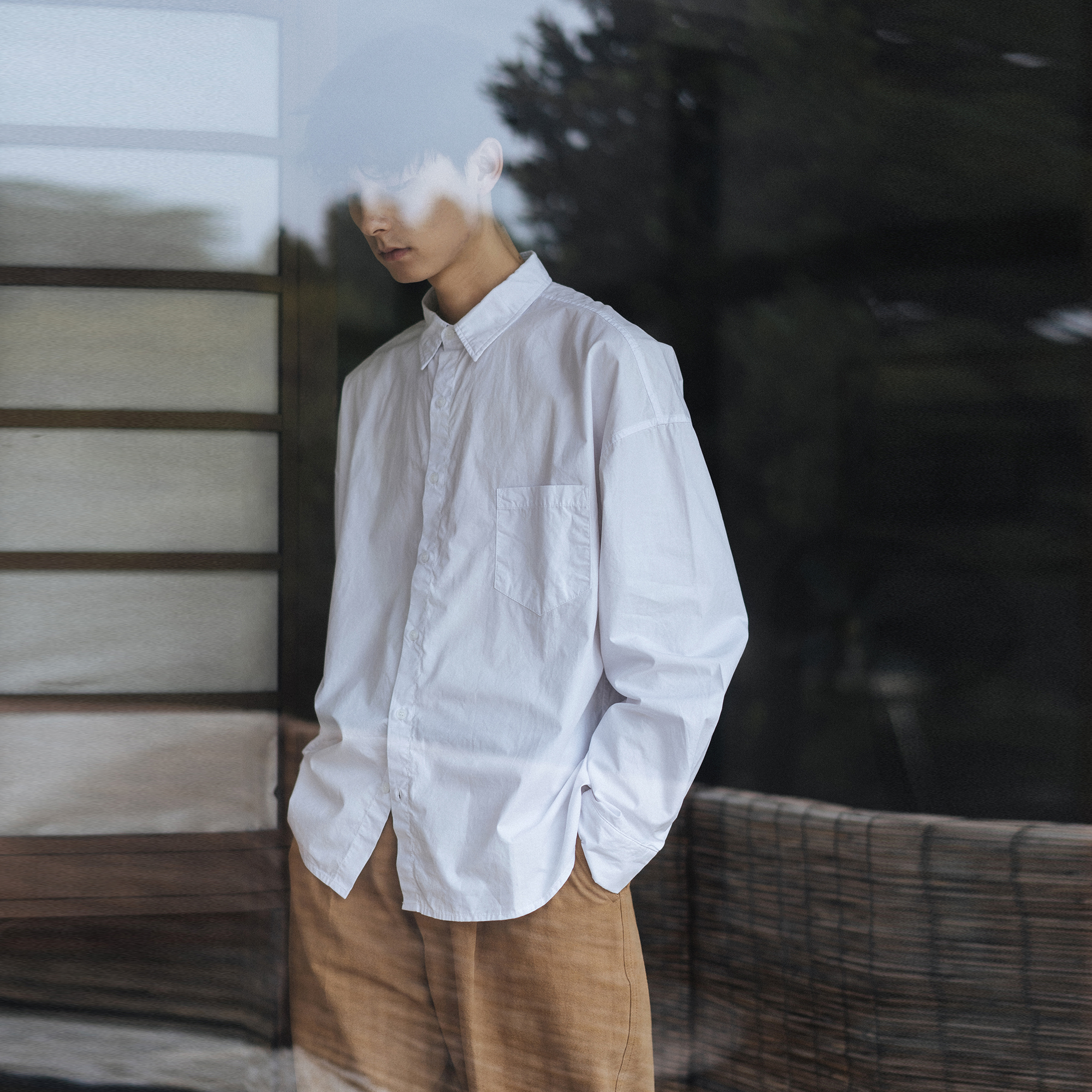 可乐生活自制天丝棉细斜秋季衬衫