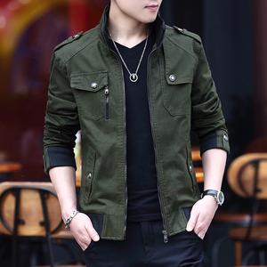 男士秋冬休闲帅气外套韩版潮修身帅气青年男装夹克衣服2020新款