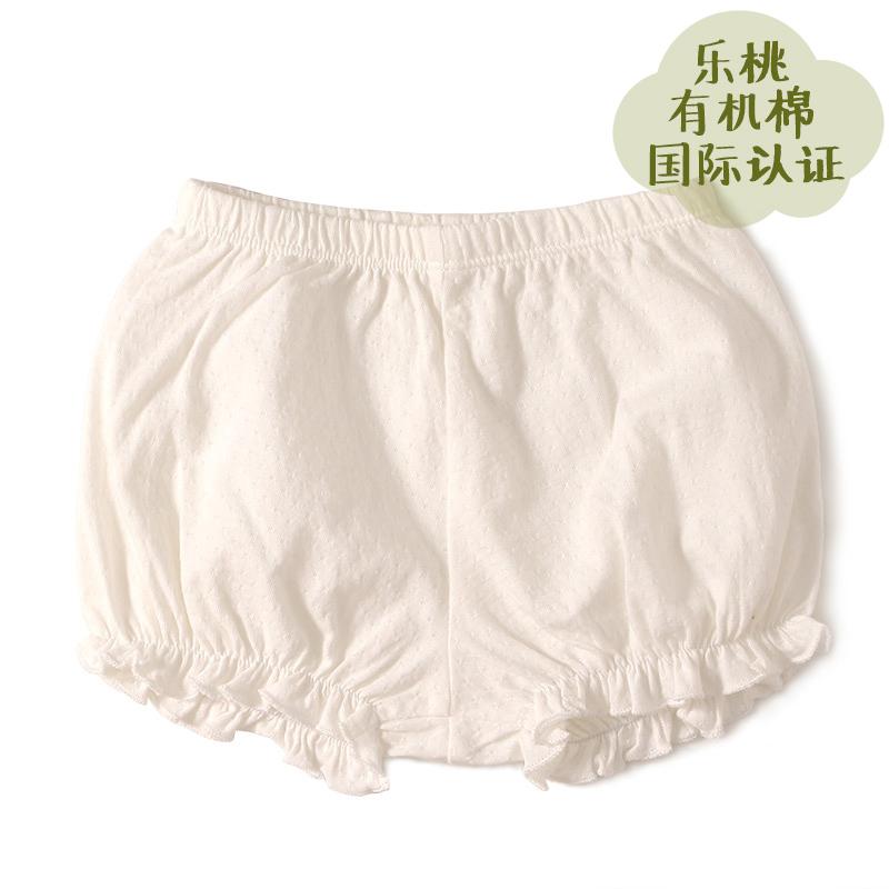 樂桃有機棉 女童提花汗布南瓜短褲 女孩平角內褲小童純棉 內褲