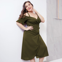 Plus Size Dress Fat Women Summer Dresses 4XL 大码女装连衣裙