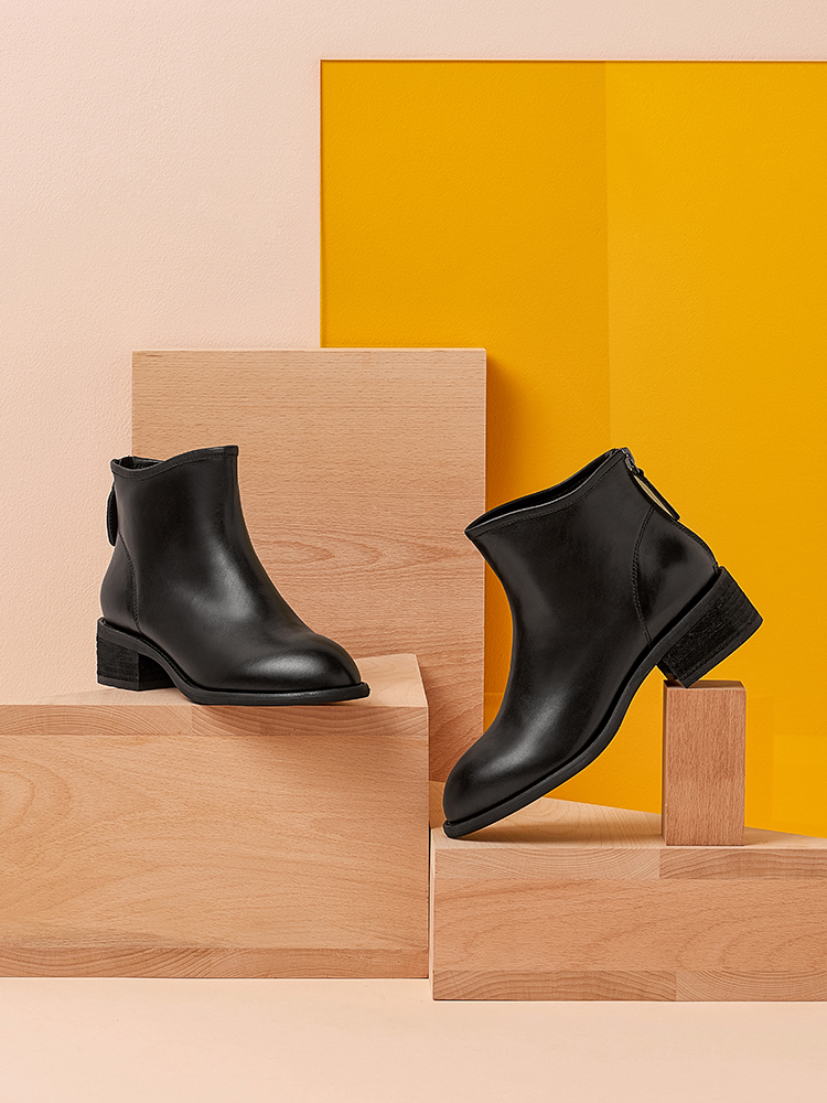 Tata / He Her Winter 2019 Shoppe WCT01D9 with Cowhide Commuter Ankle Shoes