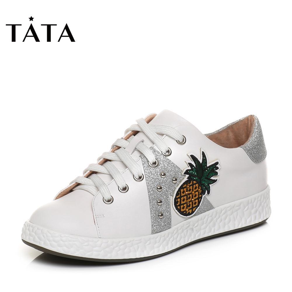 tata春季商场同款系带板鞋