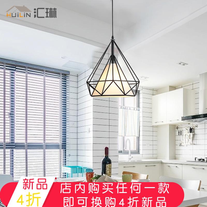 现代简约LED吊灯 客厅卧室吊灯个性创意餐厅灯饰铁艺钻石鸟笼灯具
