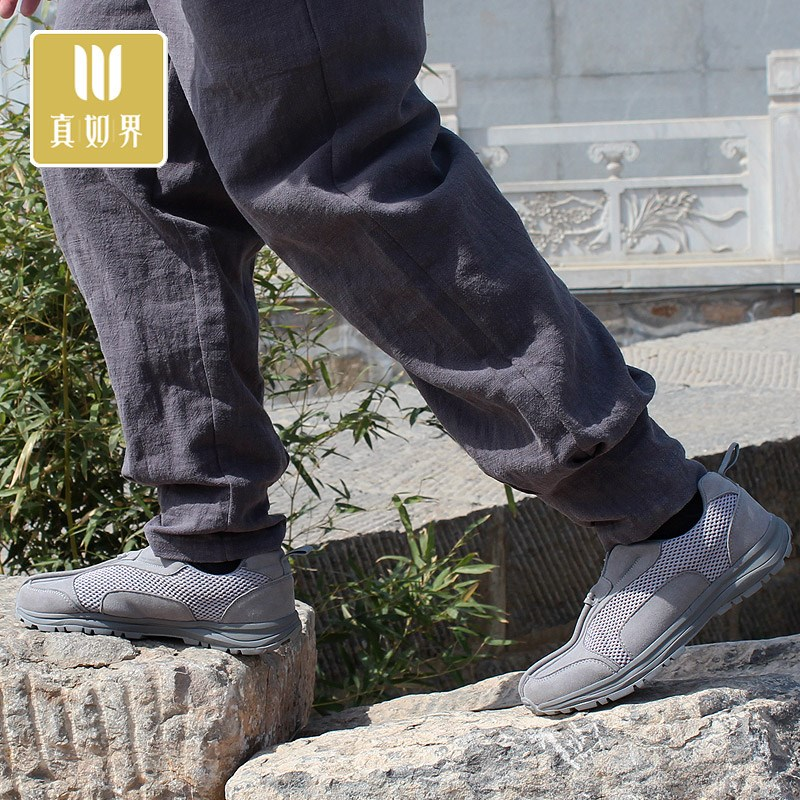 Wear resistant monk shoes and breathable autumn Rohan shoes for outdoor practice antiskid mountaineering shoes monk shoes