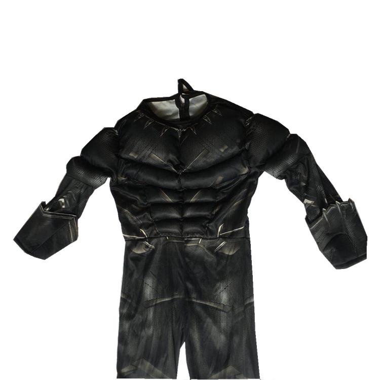 角色扮演万圣节cosplay化装舞会肌肉款黑豹扮演服装面具套装儿童