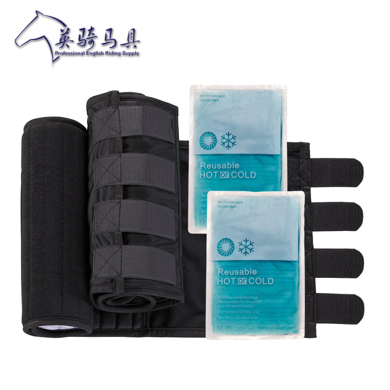 Horse ice leg protection equipment horse riding single cooling horse riding English export Leggings care ice bag application