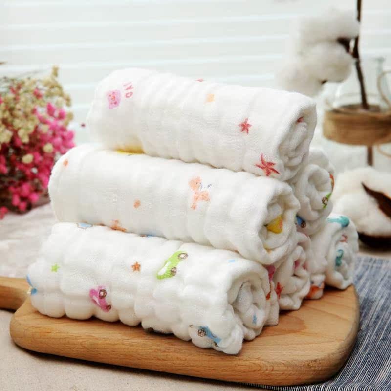 新生婴儿洗脸纱布毛巾干湿两用面纸巾洗屁屁股擦口水