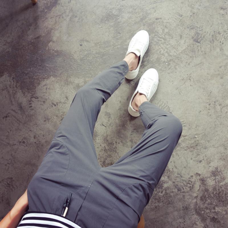 限时秒杀夏季薄款九分裤男修身小脚裤韩版潮流百搭男裤学生束脚9分休闲裤