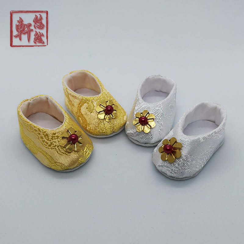 Youran Xuan BJD baby six points ancient shoes ancient metal binding brocade Chinese clothing shoes not available