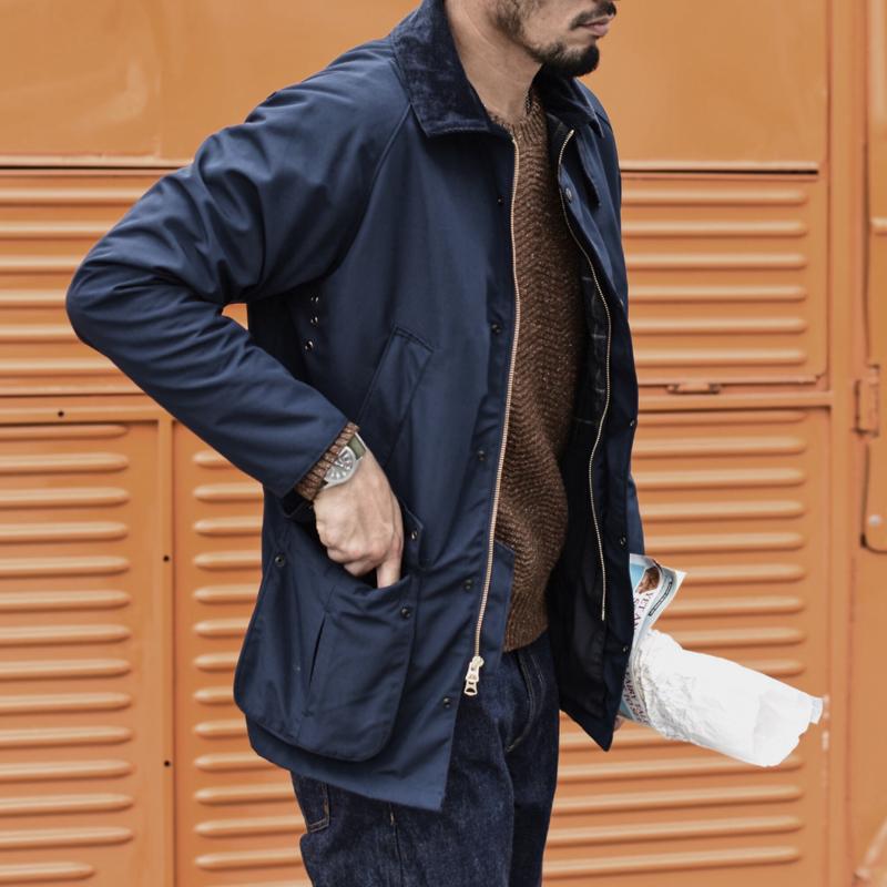 羊毛里大衣机车夹克外套无蜡防水风衣沾酱通勤风衣防泼溅