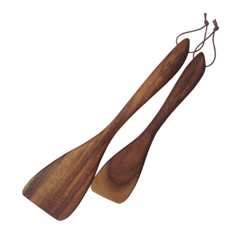 木韵 厨房餐饮用具小叶相思烹饪勺铲 不粘锅专用木铲套装