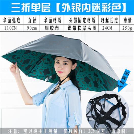 成人伞帽 儿童夏季斗篷防紫外线头戴式宝宝雨披防雨男士防水超轻
