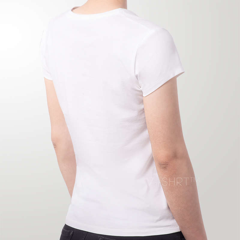 7shrt new womens round neck short sleeve basic cotton casual all-around fit, lining impervious solid white T-shirt