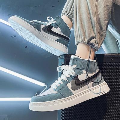 空军一号男鞋秋冬季2020新款高帮潮鞋休闲运动棉鞋百搭aj潮流板鞋
