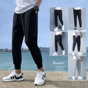 男夏季梭织宽松冰丝健身休闲运动裤