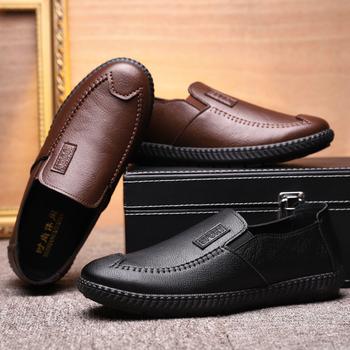 新款商務休閑男士夏季季透氣男單鞋