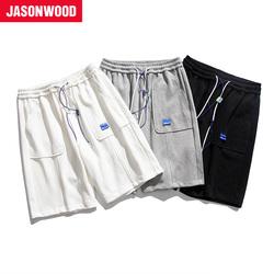 Jasonwood 男休闲短裤个性舒适清凉宽松休闲裤男款时尚五分裤