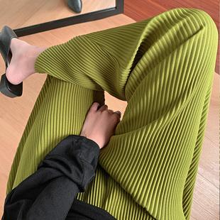 冰丝阔腿裤女高腰夏季新款薄款垂感宽松直筒显瘦百搭九分拖地裤子