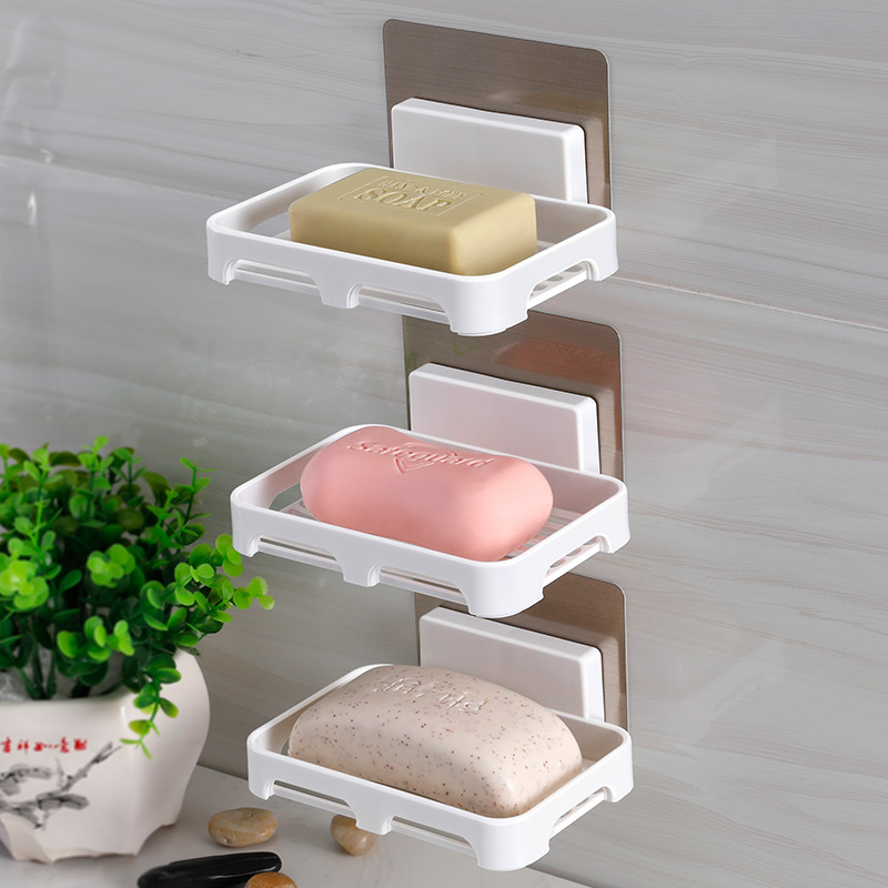 双庆浴室肥皂盒香皂架卫生间创意吸盘香皂盒肥皂架沥水皂盒免打孔10-11新券