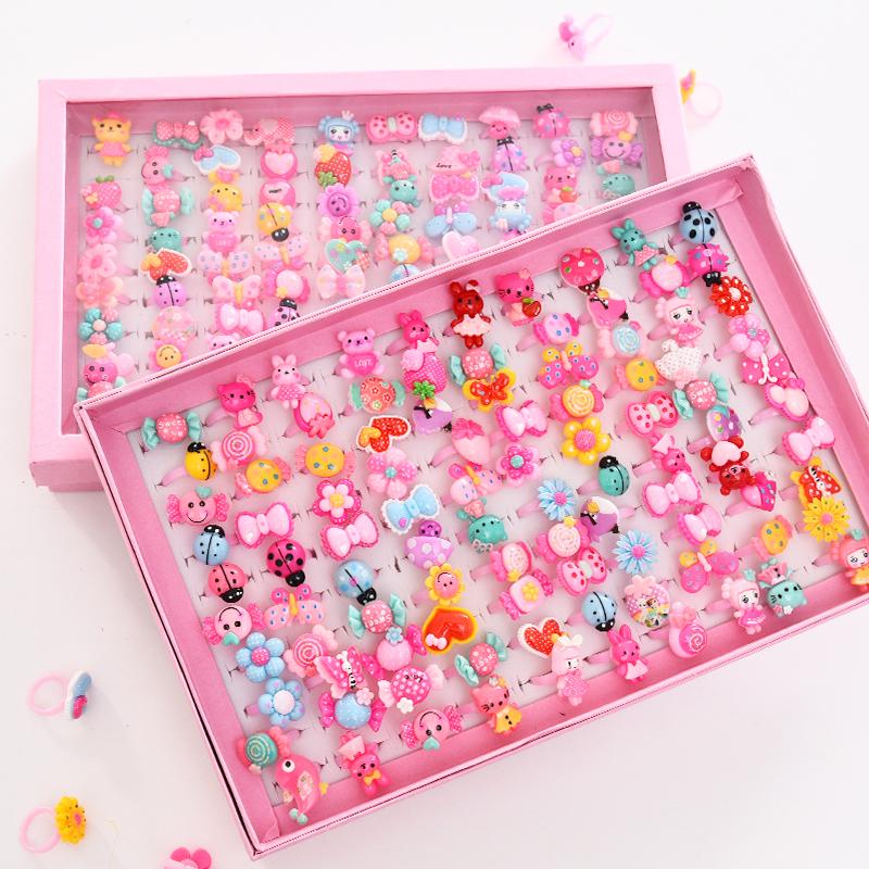 Милый дети кольцо мини пластик ребенок детский сад творческий девушка игрушка аксессуары еда палец декоративный ювелирные изделия