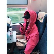 余潇潇2019秋装新款红色短款风衣女矮个子韩版宽松小个子外套春秋