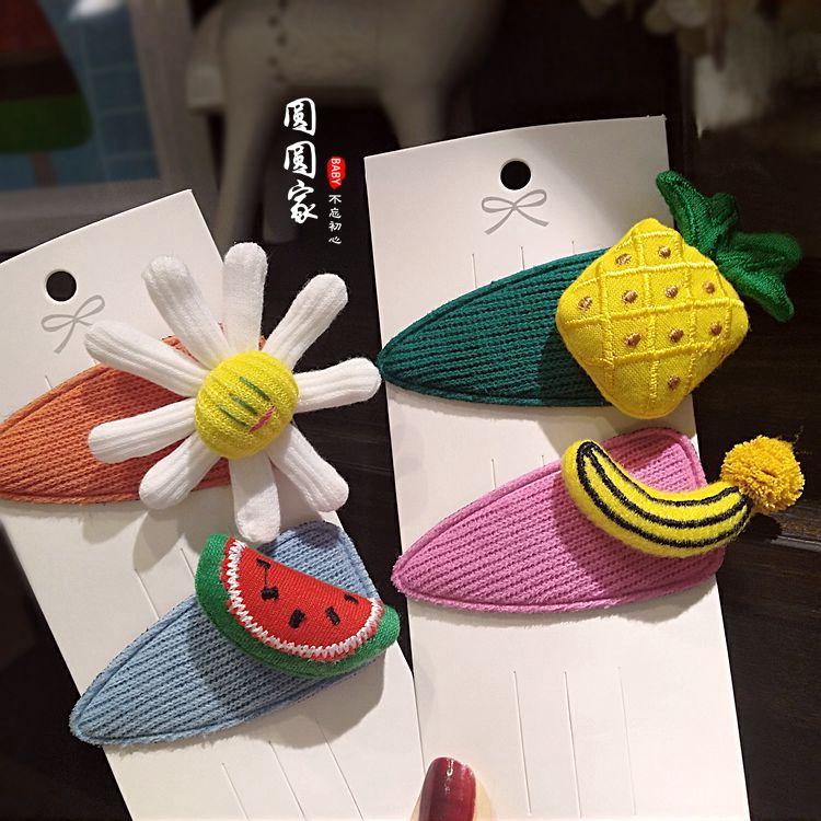 限8000张券韩版女童太阳花可爱水果碎刘海夹