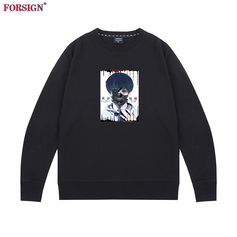 Japanese anime mask mens and womens round collar sweater