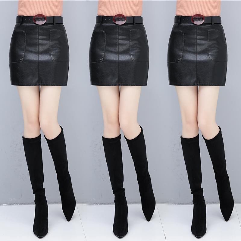 皮裙2019新款包臀半身裙秋冬季女短裙气质冬裙外穿裙子显瘦一步裙