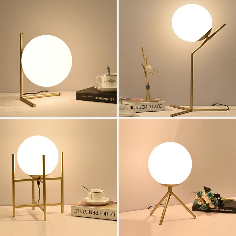 网红台灯简约现代创意个姓客厅卧室书桌北欧浪漫铁艺装饰床头夜灯