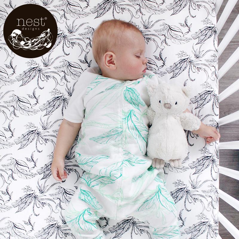 Nest Designs кровать предприятия новорожденных кровать статьи кровать для младенца коническая шляпа из бамбука ребенок постельное покрывало лист бамбуковый хлопок история пряжа
