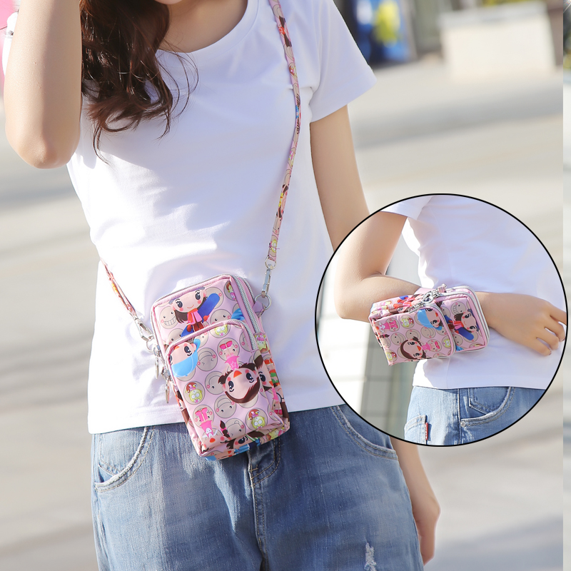 手机包女斜挎韩版潮包手机包女手拿手腕夏天装手机小挎包竖款时尚