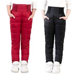 儿童羽绒棉裤冬季3岁4男童5女童6夹棉7加厚8女孩外穿保暖长裤裤子