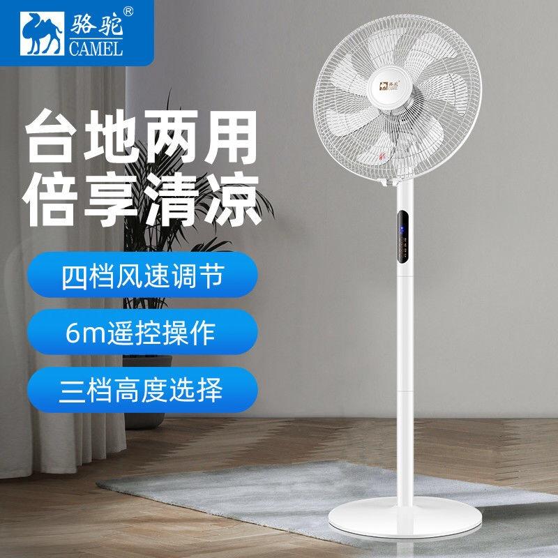 夏季新款落地扇 小型家用静音立式风扇大风量铁叶老人遥控电风扇