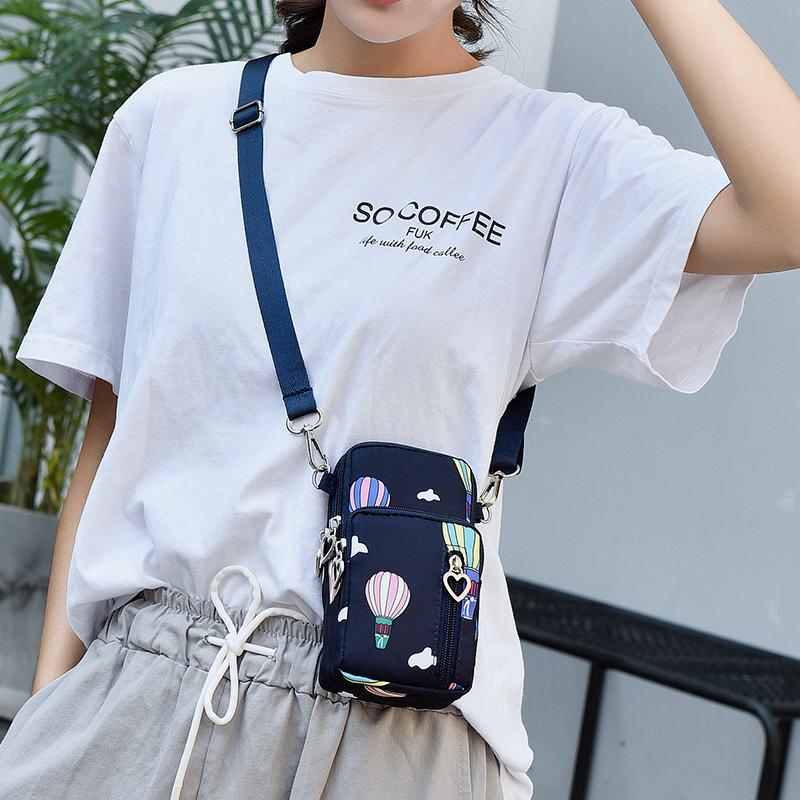 布袋便携斜挂装放手机女手机袋子