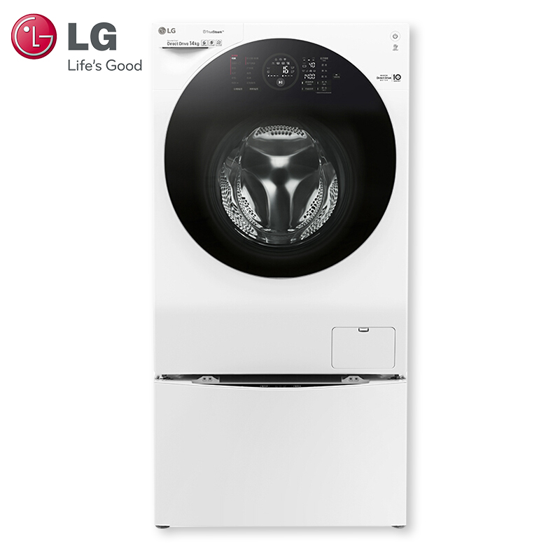 LG wdfh457c0sw 14kg imported steam double engine washing machine variable frequency suspension damping system